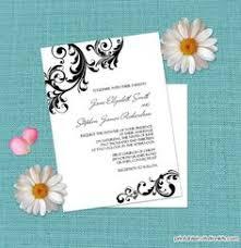 Making Wedding Programs Free Pdf Download Scrolling Border Wedding Invitation Template