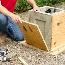 how to make a concrete planter diy concrete