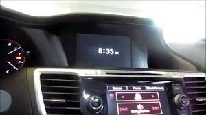 2013 2014 2015 honda accord imid show only clock youtube