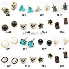 post style earrings 2018 2012 hot sale alloy plastic earrings fashion designer