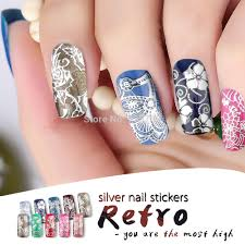 online get cheap silver nail sticker aliexpress com alibaba group