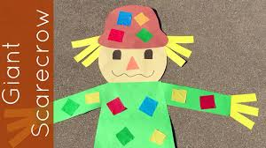 giant scarecrow craft project for prescool and kindergarten youtube