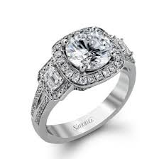 18 carat diamond ring simon g 18 karat diamond engagement ring at charisma jewelers
