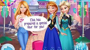 barbie trip arendelle cartoon children kids games