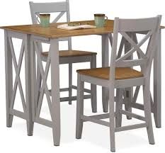 Oak Breakfast Bar Table In Nantucket Black And Cherry Value City Furniture Nantucket Oak