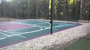 Backyard Tennis Court Cost Backyards Appealing Porous Outdoor Tennis Court Flooring All Image