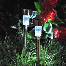 outdoor lawn lights solar power led spike spot light garden outdoor stainless steel