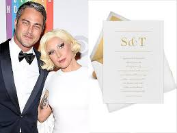 Vera Wang Wedding Invitations Lady Gaga And Taylor Kinney Engaged We Pick Out Their Wedding Invite