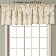 Western Window Valance Addison Embroidered Floral Faux Silk Window Treatment
