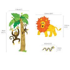 jungle animals alphabet wall stickers