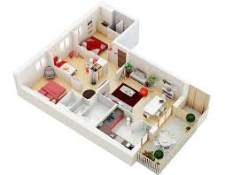 3 Bedroom Flat Floor Plan by 100 Bhk 3 Bedroom Flat Plans 3d And Contemporary One