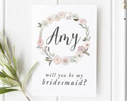 in bridesmaid card bridesmaid cards etsy