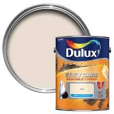 dulux easycare ivory matt emulsion paint 5l departments diy at b u0026q