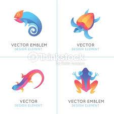vector set of logo design templates in bright gradient colors