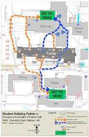 Wsu Parking Map Emergency Evacuation Chemistry Stockroom Washington State