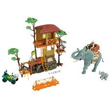 safari jeep cartoon animal planet safari tree house playset toys