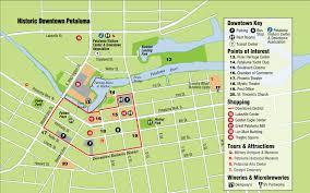 petaluma ca map getting around petaluma