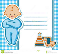 Birthday Invitation Card For Baby Boy Card For Baby Boy Stock Vector Image 54148138