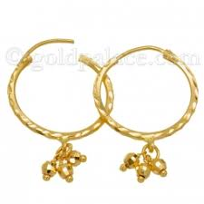 baby gold earrings gold hoop earrings for baby 22k goldpalace