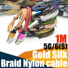 best 1m3ft usb cable 10 colour braid data sync charging weaving