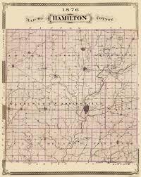 Map Of Joliet Il Old County Map Hamilton Indiana Landowner 1876