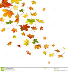 vectorof fall halloween background clip art free maple leaves falling autumn isolated white background 32546086 jpg