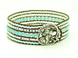 beaded leather cuff bracelet images The 101 best 3 row beaded cuff bracelet images jpg