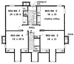 southern home floor plans southern country 5 bedrooms 6992 5 bedrooms and 2 baths the