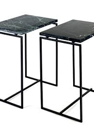 High Side Table Side Table With Marble Table Top In Green Or Black