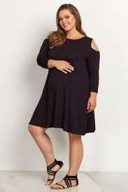 cold shoulder dress black cold shoulder plus size maternity dress