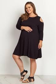 cold shoulder dress black cold shoulder plus size maternity dress
