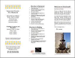 Wedding Pamphlet Template Welcome Brochure For Oot Bag Weddingbee Photo Gallery