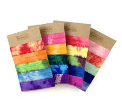 elastic hair ties elastic hair tie bracelet in one tie dye print