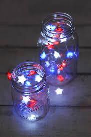 Battery String Lights Mini by Glow Red White U0026 Blue Star Shaped Led Mini String Lights