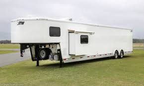 Trailer Garage by 2017 Shadow Stw Car Hauler With Living Quarter 24 U0027 Enclosed Garage