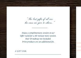 photography gift certificate template gift card template for