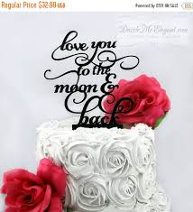 love you to the moon cake topper wedding cake topper