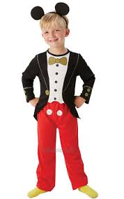 mickey mouse tuxedo boys fancy dress childs kids disney costume