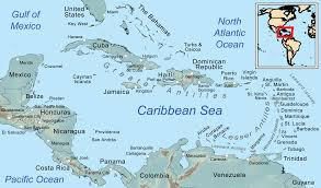East Coast Time Zone Map by Comprehensive Map Of The Caribbean Sea And Islands