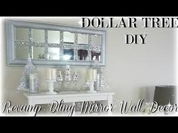 home decor youtube diy bling revamp mirror wall decor diy dollar tree mirror wall art