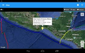 Colima Mexico Map by Earthquake Map Info Alerts Android Apps On Google Play