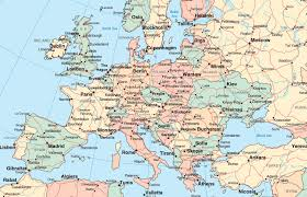 Europe Capitals Map by Map Of Europe With Cities