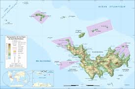 St Barts Location Map by