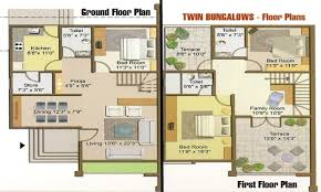 twin bungalow floor plan simple one story floor plans bungalo