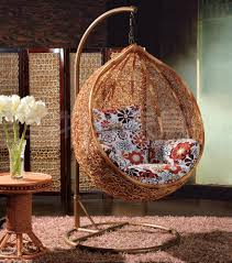 bedroom rattan hanging chair hanging basket chair black finish