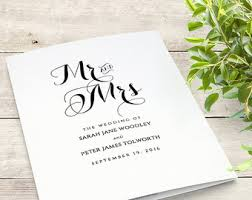 Wedding Booklet Templates Wedding Templates Etsy No