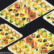 canapes aperitif 3 serviettes en papier petits fours canapes aperitif cuisine