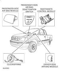ford f150 airbag light replacement 2002 ford f150 airbag module i m looking to find the location of