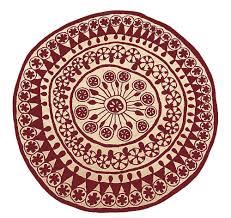 contemporary rug patterned wool round rangoli 1 2 by nani