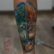 Half Sleeve Forearm Tattoo Ideas 35 Tree Of Life Tattoos On Forearm